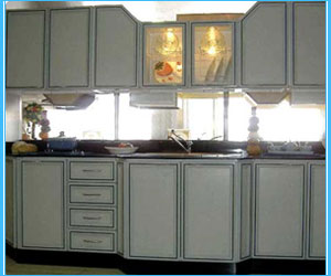 Modular kitchen and aluminium kitchens manufacturer in ludhiana punjab Kitchen profile glass design